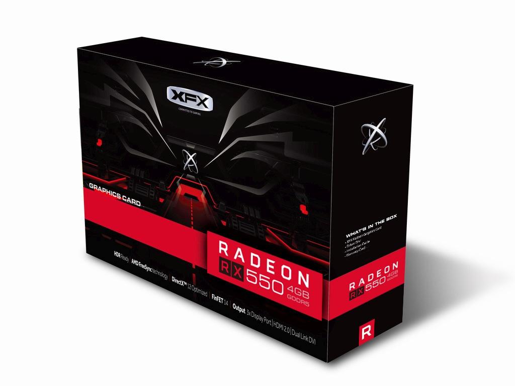 XFX Radeon RX 550 DirectX 12 RX-550P4TFG5 4GB 128-Bit DDR5 ...